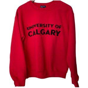 University of Calgary vintage crewneck Small
